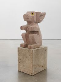 Sad and worried animals / Rabbit by Olaf Breuning contemporary artwork sculpture