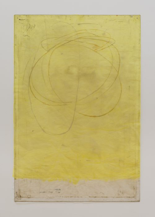Endnote, yellow (model) by Ian Kiaer contemporary artwork
