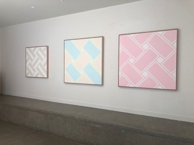 Exhibition view: Ian Scott, Minimal Lattices 1978–1988, Hamish McKay Gallery (9–30 November 2019). Courtesy Hamish McKay Gallery.