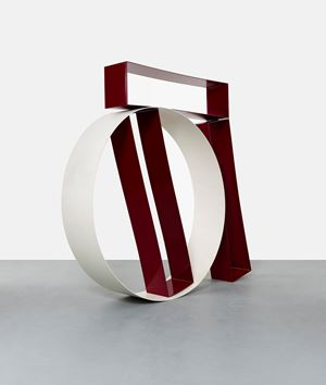 Three Red Boxes and Circle by David Annesley contemporary artwork