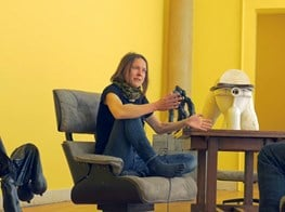 Sarah Lucas in conversation with Don Brown, film by Julian Simmons: UK at the Venice Biennale