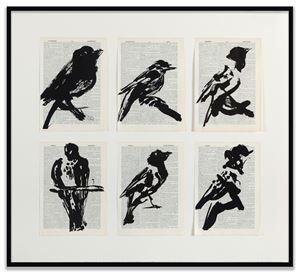 Universal Archive (Six Birds) by William Kentridge contemporary artwork
