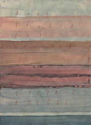 sous toutes les couches l'esprit affuté by Arpaïs Du Bois contemporary artwork