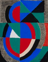 Rythme couleur by Sonia Delaunay contemporary artwork painting, works on paper, drawing