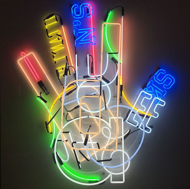 Fortune V by Iván Navarro contemporary artwork
