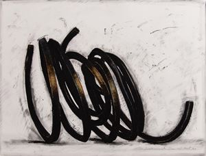 Two Indeterminate Lines by Bernar Venet contemporary artwork