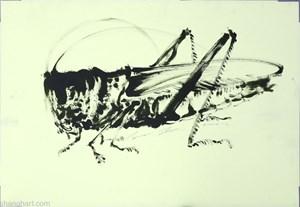 Grasshopper by Sun Xun contemporary artwork
