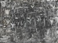 Birds Landing by David Koloane contemporary artwork painting, mixed media