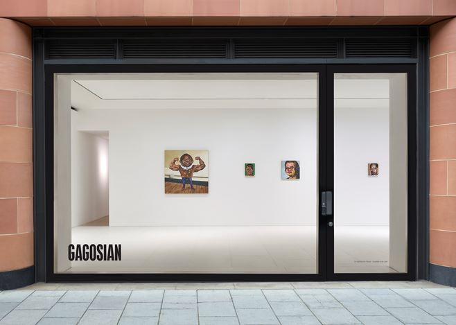 Exhibition view: Nathaniel Mary Quinn, Gagosian, Davies Street, London (1 October–21 November 2020). © Nathaniel Mary Quinn. Courtesy Gagosian. Photo: Prudence Cummings Associates.
