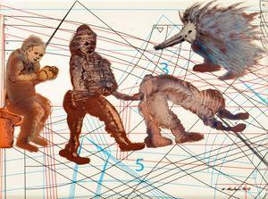 Complexity of Communication 9 by Nalini Malani contemporary artwork