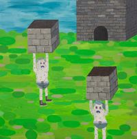 babies building by Pow Martinez contemporary artwork painting