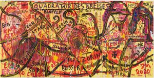 H'EXKUNST DE FULL! by Jonathan Meese contemporary artwork painting