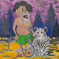 yuppie turned into a forest wizard by Pow Martinez contemporary artwork painting