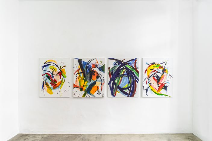 Exhibition view: Christine Jackob-Marks,In der Schwere leicht   Ligero en la gravedad, KEWENIG, Palma (18 May–12 September 2020). Courtesy KEWENIG.