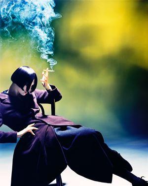 Susie Smoking, Susie Bick for Yohji Yamamoto by Nick Knight contemporary artwork