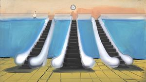 Mr. Time by Tala Madani contemporary artwork