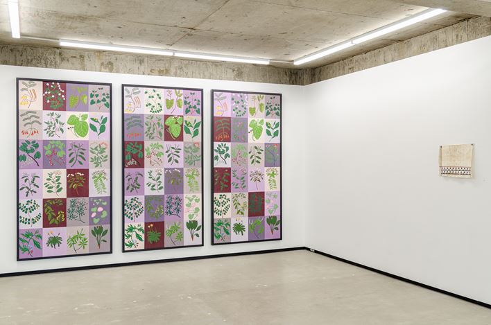 Exhibition view: Kauri Hawkins, Ayesha Green, Maioha Kara, Nikau Hindin, He Tohu, Jhana Millers (18 June–11 July 2020). Courtesy Jhana Millers.