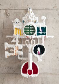 White Discharge (Built-up Objects) #41 by Teppei Kaneuji contemporary artwork mixed media