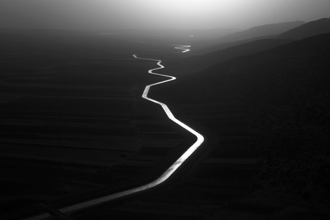 Aerial view of the National Water Carrier, Israel by Paolo Pellegrin contemporary artwork