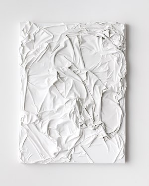 Untitled (white on white) by Huseyin Sami contemporary artwork
