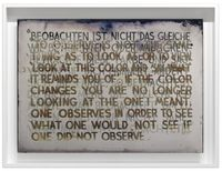 If the Color Change... by Mel Bochner contemporary artwork sculpture, print