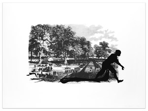 Banks's Army Leaving Simmsport by Kara Walker contemporary artwork