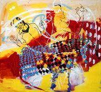 Hat denn die ganze Welt Geburtstag? by Memphis Schulze contemporary artwork painting