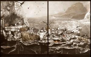 Sea Bird Colony, Admiralty Rocks with turbulent seas, Lord Howe Island by Anne Zahalka contemporary artwork