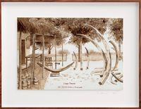 Postcards from Africa: Purchase of ivory in Brazzaville, Congo by Sue Williamson contemporary artwork works on paper