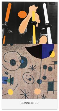 Miró and Life in General: Connected by John Baldessari contemporary artwork painting