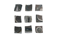 JP 3 Black Landscape Tiles (Shigaraki, Japan) by Jon Pettyjohn contemporary artwork ceramics
