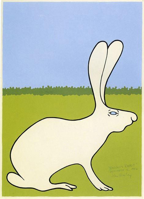 Hannah's Rabbit by John Wesley contemporary artwork