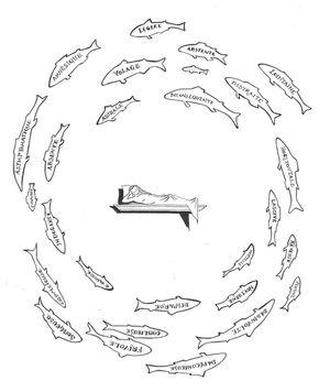 Vierge aux poissons by Serge Dubuc contemporary artwork