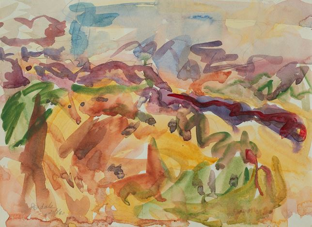 Toss Woollaston,Dovedale, 1960, watercolour on paper, 272mm x 373mm