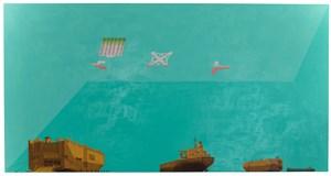 Hafenkante und dahinter die offene See by Hendrik Krawen contemporary artwork
