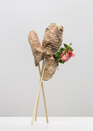Bud Vase (The Rectum as a Vessel) by Christian Holstad contemporary artwork