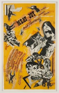 Meat Joy Collage (performance poster) by Carolee Schneemann contemporary artwork works on paper