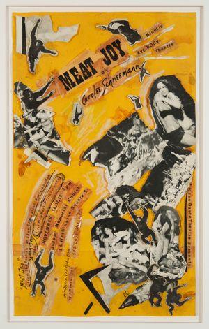 Meat Joy Collage (performance poster) by Carolee Schneemann contemporary artwork