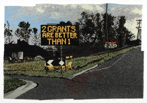 2 grants are better than 1 by Michelle Hamer  contemporary artwork