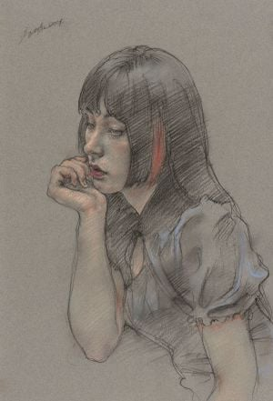 Miss Feng by Pang Maokun contemporary artwork