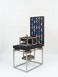Centralization vs Decentralization hardware display: IBM PureFlex/Zcash/GoL Pirates of the Caribbean Dead Man's Chest by Simon Denny contemporary artwork sculpture
