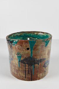 Untitled Large Planter 20 by Rashid Johnson contemporary artwork ceramics