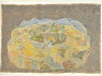 Snake Crosses the Landscape by Siji Krishnan contemporary artwork works on paper
