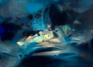 Abstraction bleue et jaune by Chu Teh-Chun contemporary artwork