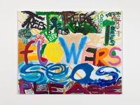 Work No. 3113TREES FLOWERS SEAS PLEASE by Martin Creed contemporary artwork painting
