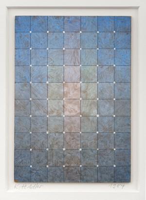 Farbschichtung mit weißen Püntkchen by Karl-Heinz Adler contemporary artwork