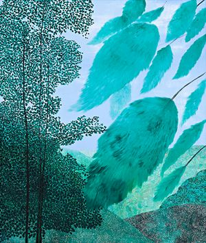 Landscape (Green II) by Sally Ross contemporary artwork