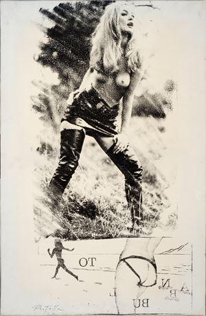 La chasse by Mimmo Rotella contemporary artwork