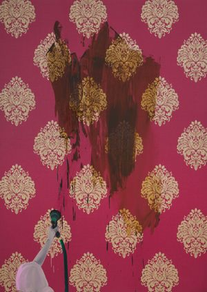 Shit Mom (Wash) by Tala Madani contemporary artwork