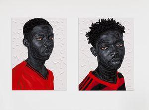 Oko & Akwete by Otis Kwame Kye Quaicoe contemporary artwork painting